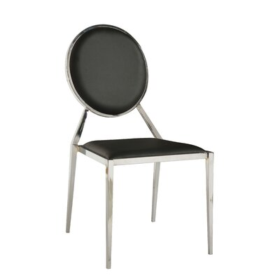 Lisa Side Chair (Set of 4) Upholstery: Black