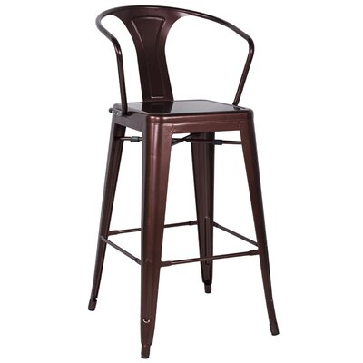 Toms 30 Bar Stool (Set of 4) Finish: Copper