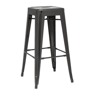 Toms 29.92 Bar Stool (Set of 4) Finish: Black