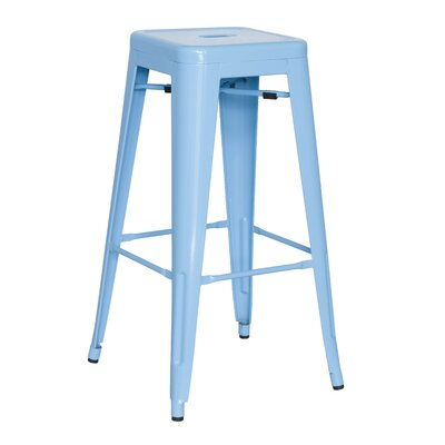 Toms 29.92 Bar Stool (Set of 4) Finish: Blue