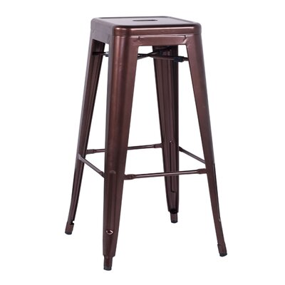 Toms 29.92 Bar Stool (Set of 4) Finish: Copper