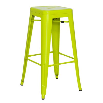 Toms 29.92 Bar Stool (Set of 4) Finish: Green