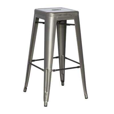 Toms 29.92 Bar Stool (Set of 4) Finish: Gun Metal