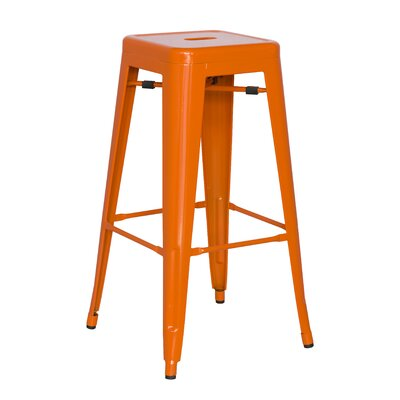 Toms 29.92 inch Bar Stool (Set of 4) Finish: Orange