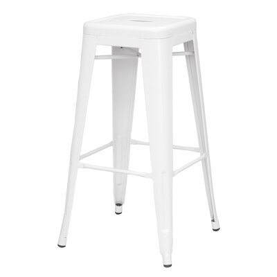 Toms 29.92 Bar Stool (Set of 4) Finish: White