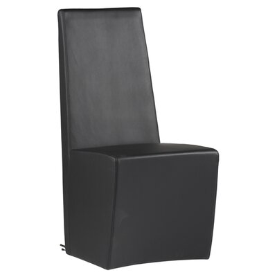 Cynthia Side Chair (Set of 2) Upholstery: Black