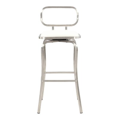 Modern 30.31 Bar Stool Upholstery: White