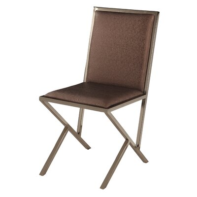 Lauren Side Chair (Set of 4) Side Chair Upholstery: Brown