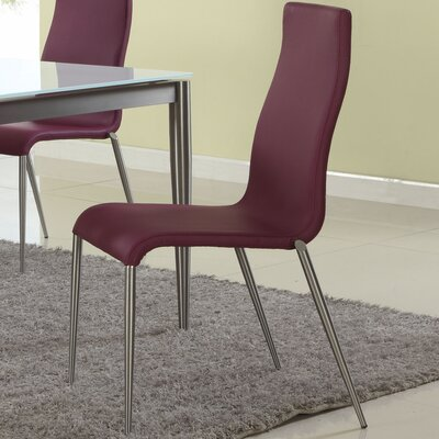 Remy Side Chair (Set of 4) Side Chair Upholstery: Purple