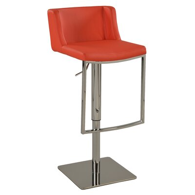 Chintaly Adjustable Height Bar Stool 0886-AS-RED