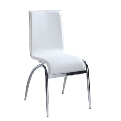 Elaine Side Chair (Set of 4) Side Chair Upholstery: White