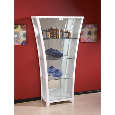 Flair Curio Cabinet Finish: Gloss White