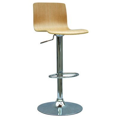 Chintaly Glastonbury Adjustable Height Swivel Bar Stool