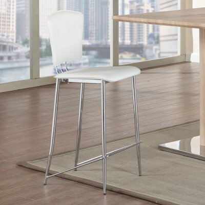Tracy 25.2 Bar Stool (Set of 2) Upholstery: White
