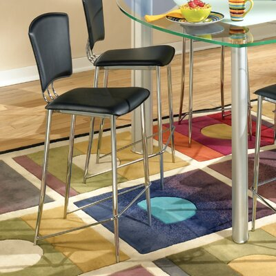 Tracy 25.2 Bar Stool (Set of 2) Upholstery: Black