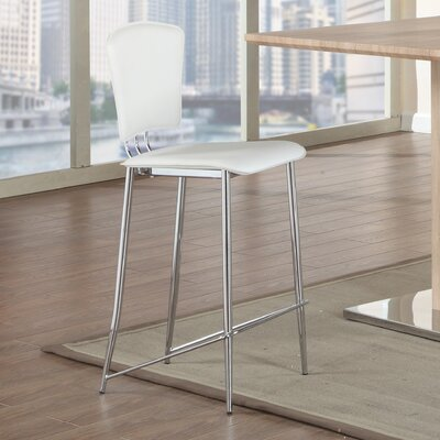 Tracy 30 Bar Stool (Set of 2) Upholstery: White