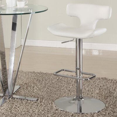 Pneumatic Gas Adjustable Height Swivel Bar Stool Finish: White