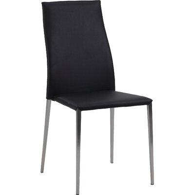 Elsa Side Chair (Set of 4) Upholstery: Black