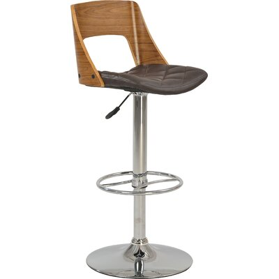 Chintaly 1332-AS-BRW Plywood Open Back Pneumatic Stool