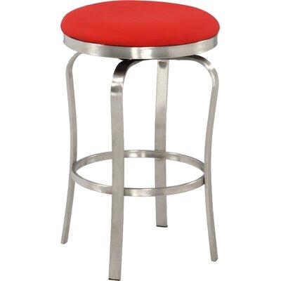 Modern 25.98 Bar Stool Upholstery: Red