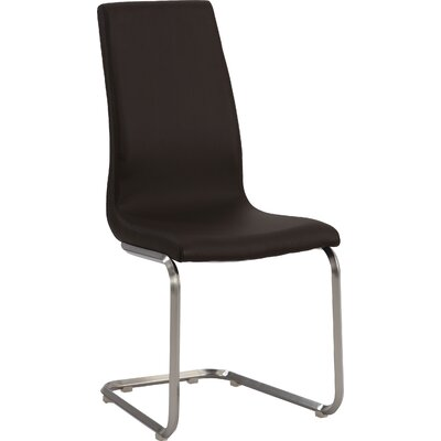 Zoey Side Chair (Set of 2) Upholstery: Brown