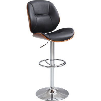 Chintaly Adjustable Height Swivel Bar Stool 1433-AS-BLK