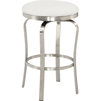 Modern 25.98 Bar Stool Upholstery: White