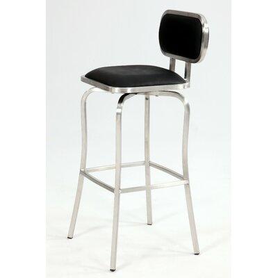 Modern 25.98 Swivel Bar Stool Upholstery: Black