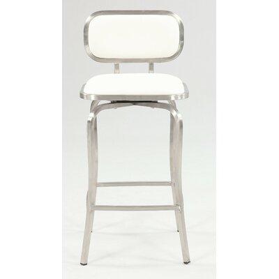 Modern 25.98 Swivel Bar Stool Upholstery: White
