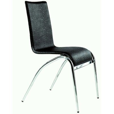 Elaine Side Chair (Set of 4) Side Chair Upholstery: Black