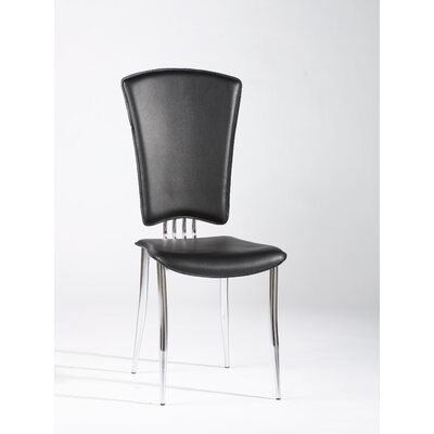 Tracy Side Chair (Set of 6) Upholstery: Black