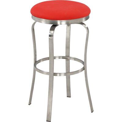 Modern 29.92 Bar Stool Upholstery: Red
