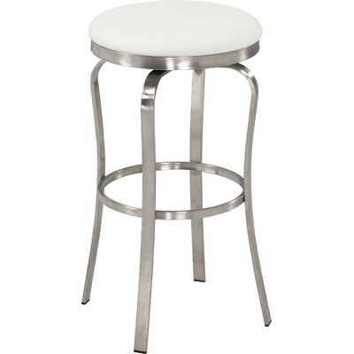 Modern 29.92 Bar Stool Upholstery: White