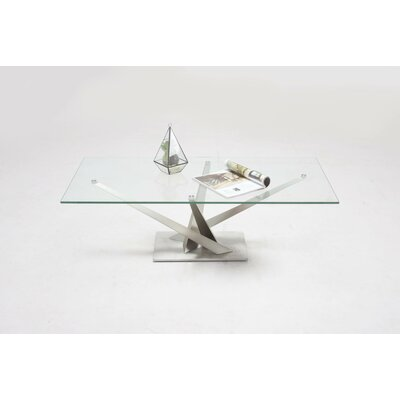 Catherina  Tempered Clear Glass Top