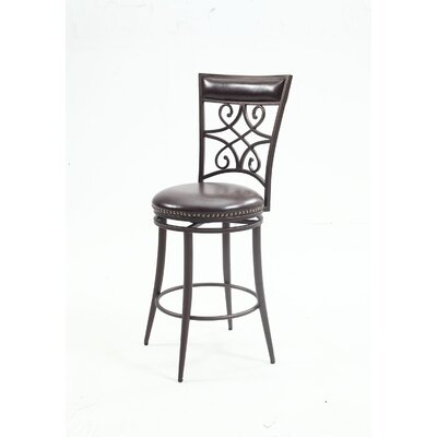 Libbie Scroll Back Swivel Bar Stool