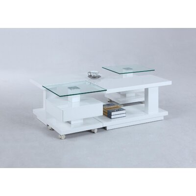 Reynaldo Adjustable Glass Coffee Table Top