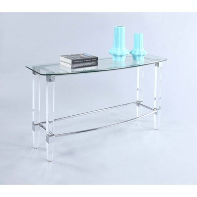 Magali Rectangular Glass Sofa Table Top