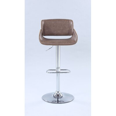 Inman Pneumatic Saddle Adjustable Height Swivel Bar Stool
