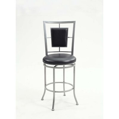 Tremaine Padded Backed Swivel Bar Stool