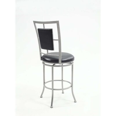 Marshawn Padded Backed Swivel Bar Stool