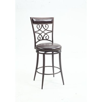 Ester Scroll Back Swivel Bar Stool