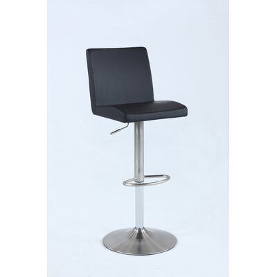 Iorio Pneumatic Low Back Adjustable Height Swivel Bar Stool