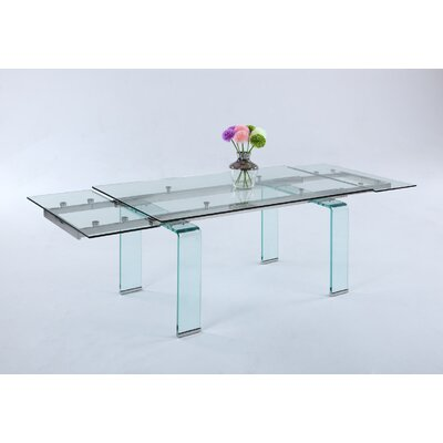 Krissie Clear Tempered Glass Angled Legs