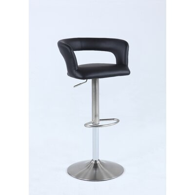 Shamal Pneumatic Low Open Back Adjustable Height Swivel Bar Stool