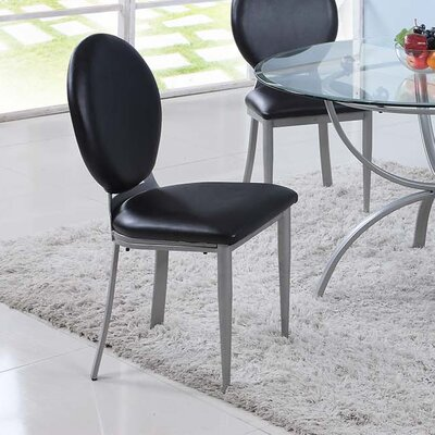 Prosperie Round Back Upholstered Dining Chair (Set of 2)
