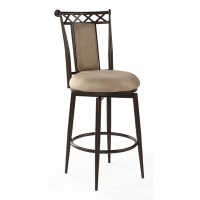 26 Swivel Bar Stool Upholstery: Taupe