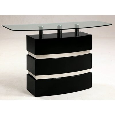 Cheap Chintaly Xenia Sofa Table in Gloss Black (CNI2335)