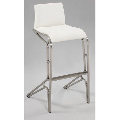 Modern 29.53 Bar Stool (Set of 2) Upholstery: White