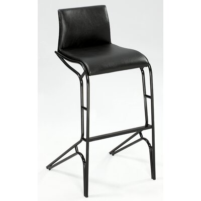 Modern 29.53 Bar Stool (Set of 2) Upholstery: Black