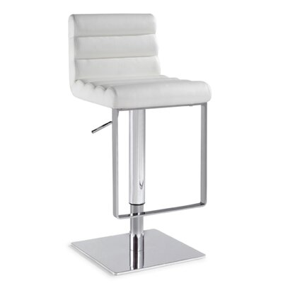 Chintaly Adjustable Height Swivel Bar Stool 0830-AS-WHT